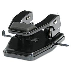 "Master 40-Sheet Heavy-Duty Two-Hole Punch, 9/32"" Holes, Padded Handle, Black"