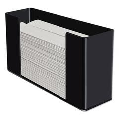 Multifold Paper Towel Dispenser, Acrylic, 12.5 x 4.4 x 7, Black