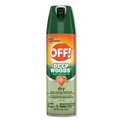 Deep Woods Dry Insect Repellent, 4oz, Aerosol, Neutral, 12/Carton