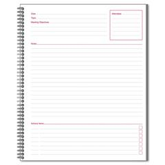 Cambridge Side Bound Guided Business Notebook, Linen, Meeting Notes, 11 x 8 1/4, 80 Sheets