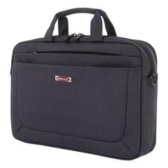 "Cadence 2 Section Briefcase, Holds Laptops 15.6"", 4.5"" x 4.5"" x 16"", Charcoal"
