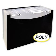 """21-Pocket Stand-Up Design Expanding File, 12"""" Expansion, 21 Sections, 1/21-Cut Tab, Legal Size, Black"""