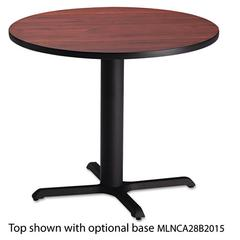 "Mayline Bistro Series 30"" Round Laminate Table Top, Mahogany"
