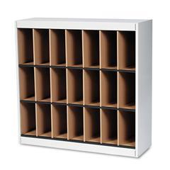Kwik-File Vertipocket Vertical Sorter, 21 Pkt, 37 3/4 x 12 3/4 x 37, Pebble Gray