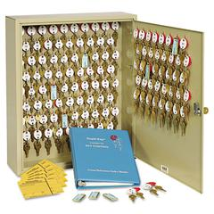 Locking Two-Tag Cabinet, 120-Key, Welded Steel, Sand, 16 1/2 x 4 7/8 x 20 1/8