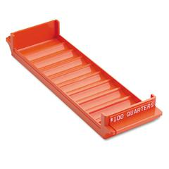 Industries Porta-Count System Rolled Coin Plastic Storage Tray, Orange