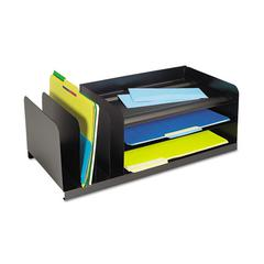 Legal-Size Organizer, Seven Sections, Steel, 25 7/8 x 11 x 8 1/8, Black