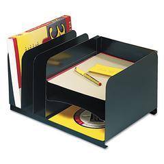 Steelmaster Vertical/Horizontal Combo Organizer, Six Sections, Steel, 15 x 11 x 8 1/8, Black