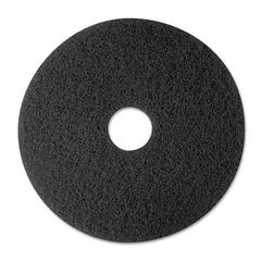"3M Low-Speed Stripper Floor Pad 7200, 12"", Black, 5/Carton"