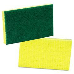 Scotch-Brite PROFESSIONAL Medium-Duty Scrubbing Sponge, 3 1/2 x 6 1/4, Yellow/Green, 20/Carton