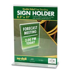 NuDell Acrylic Sign Holder, 8 1/2 x 11, Clear