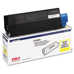Oki 43034801 Toner (Type C6), 1500 Page-Yield, Yellow