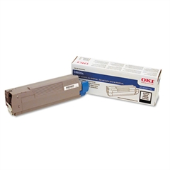 Oki 43487736 Toner, 6000 Page-Yield, Black
