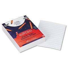 """Multi-Program Handwriting Paper, 1/2"""" Short Rule, 10-1/2 x 8, White, 500 Shts/Pk"""