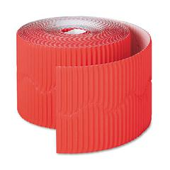 "Pacon Bordette Decorative Border, 2 1/4"" x 50' Roll, Flame Red"