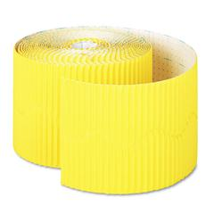 "Pacon Bordette Decorative Border, 2 1/4"" x 50' Roll, Canary"