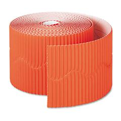 """Pacon Bordette Decorative Border, 2 1/4"""" x 50' Roll, Orange"""