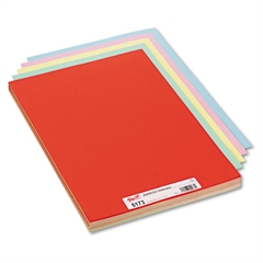 Pacon Assorted Colors Tagboard, 18 x 12, Blue/Canary/Green/Orange/Pink, 100/Pack