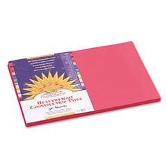 SunWorks Construction Paper, 58 lbs., 12 x 18, Scarlet, 50 Sheets/Pack