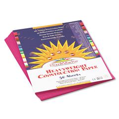 SunWorks Construction Paper, 58 lbs., 9 x 12, Magenta, 50 Sheets/Pack
