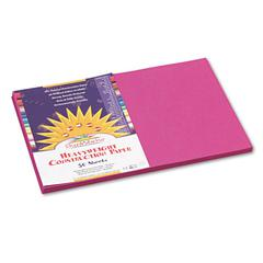 SunWorks Construction Paper, 58 lbs., 12 x 18, Magenta, 50 Sheets/Pack