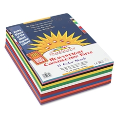 SunWorks Construction Paper Smart-Stack, 58 lbs., 9 x 12, Assorted, 300 Sheets/Pack
