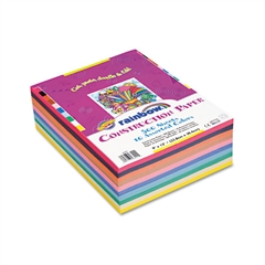 Pacon Rainbow Super Value Construction Paper Ream, 45 lb, 9 x 12, Assorted, 500 Sheets