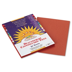 SunWorks Construction Paper, 58 lbs., 9 x 12, Brown, 50 Sheets/Pack