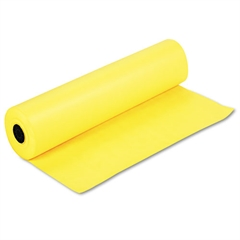 """Pacon Spectra ArtKraft Duo-Finish Paper, 48 lbs., 36"""" x 1000 ft, Canary Yellow"""