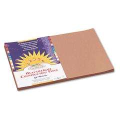 Construction Paper, 58 lbs., 12 x 18, Light Brown, 50 Sheets/Pack