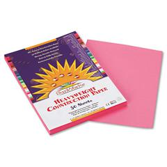 Construction Paper, 58 lbs., 9 x 12, Pink, 50 Sheets/Pack