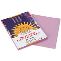 SunWorks Construction Paper, 58 lbs., 9 x 12, Lilac, 50 Sheets/Pack
