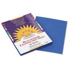 SunWorks Construction Paper, 58 lbs., 9 x 12, Bright Blue, 50 Sheets/Pack