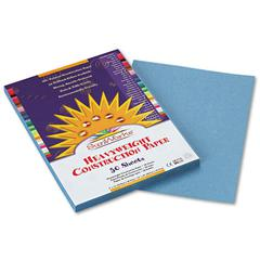 SunWorks Construction Paper, 58 lbs., 9 x 12, Sky Blue, 50 Sheets/Pack
