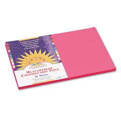 SunWorks Construction Paper, 58 lbs., 12 x 18, Hot Pink, 50 Sheets/Pack