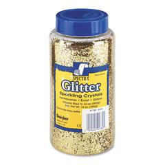 Pacon Spectra Glitter, .04 Hexagon Crystals, Gold, 16 oz Shaker-Top Jar