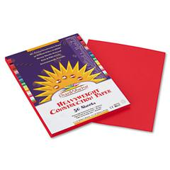 Construction Paper, 58 lbs., 9 x 12, Holiday Red, 50 Sheets/Pack