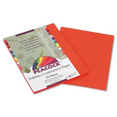 Peacock Sulphite Construction Paper, 76 lbs., 9 x 12, Orange, 50 Sheets/Pack