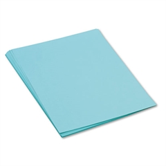 Pacon Tru-Ray Construction Paper, 76 lbs., 18 x 24, Turquoise, 50 Sheets/Pack