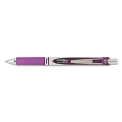 EnerGel RTX Retractable Liquid Gel Pen, .7mm, Black/Gray Barrel, Violet Ink