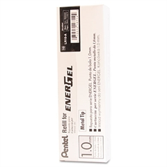 Refill for Pentel EnerGel Retractable Liquid Gel Pens, Bold, Black Ink