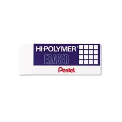 Pentel Hi-Polymer Block Eraser, White, 3/Pack