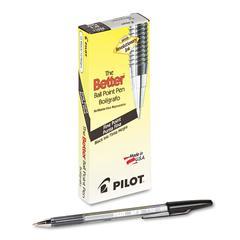 Better Ball Point Stick Pen, Black Ink, .7mm, Dozen