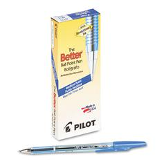 Better Ball Point Stick Pen, Blue Ink, 1mm, Dozen