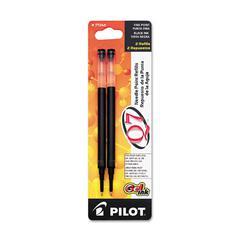Refill for Retractable Gel Roller Ball Pen, Fine, Black Ink