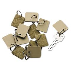 SecurIT Extra Blank Velcro Tags, Velcro Security-Backed, 1 1/8 x 1, Beige, 12/Pack