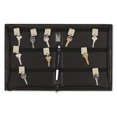 Security-Backed Zippered Case, 48-Key, Vinyl, Black, 9 x 1 x 11 5/8