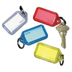 SecurIT Extra Color-Coded Key Tags for Key Tag Rack, 1 1/8 x 2 1/4, Assorted, 4/Pack