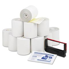 "Company Paper Rolls, Credit Verification Kit, 3"" x 90 ft, White/Canary, 10/Carton"