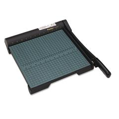 "Premier The Original Green Paper Trimmer, 20 Sheets, Wood Base, 12 1/2""x 12"""